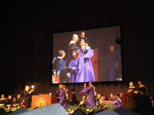 Yep, that's me during commencement